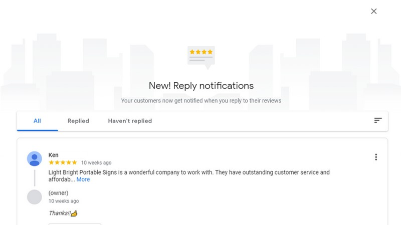 Google My Business- Reviews
